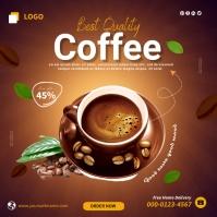 Coffee Carré (1:1) template