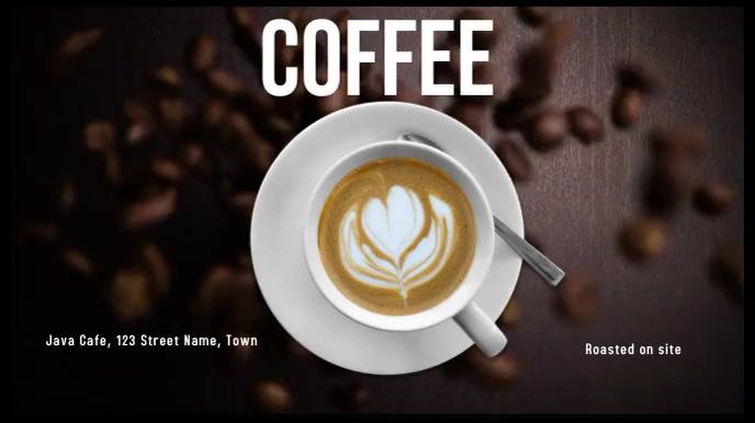 Coffee Ecrã digital (16:9) template