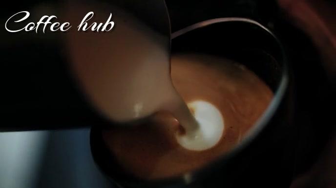 coffee Digital Display (16:9) template
