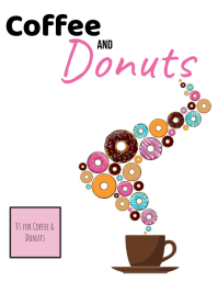 Coffee Donut Day Flyer Folheto (US Letter) template