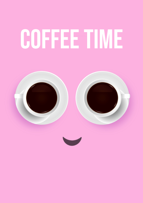 coffee face poster flyer template