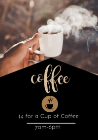 Coffee Flyer A4 template