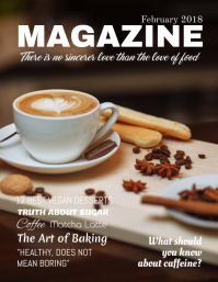 Coffee Food Magazine Cover Template Flyer (US Letter)