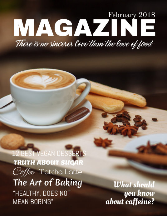 Coffee Food Magazine Cover Template