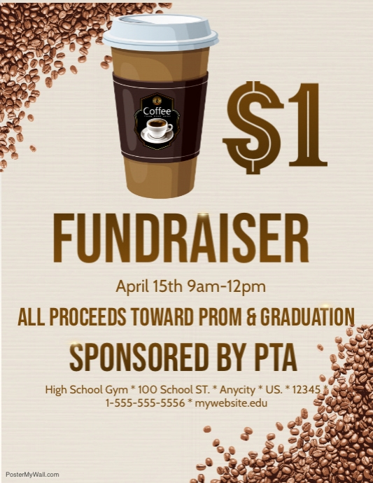 Coffee Fundraiser Template | Postermywall