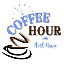 coffee hour logo template