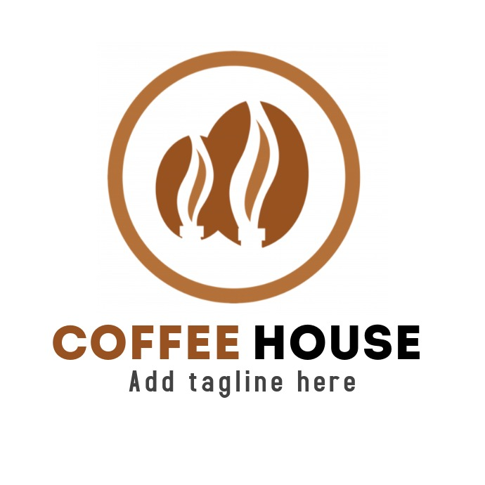 Coffee house or coffee bar logo