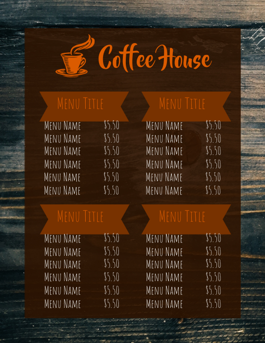 Coffee House Flyer