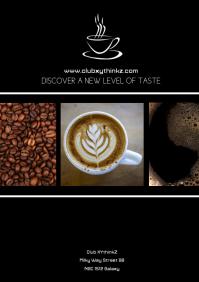 Coffee House Restaurant Bar Din Flyer Advert A4 template