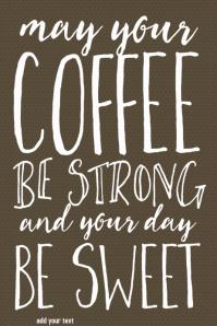 Coffee Inspirational poster coffee shop restaurant menu flye