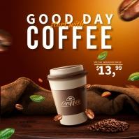 Coffee Instagram Ads Carré (1:1) template