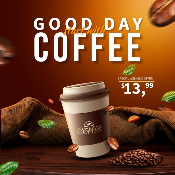 Coffee Instagram Ads Kwadrat (1:1) template