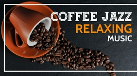coffee jazz relaxing music video thumbnail YouTube Duimnael template