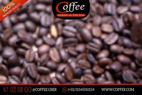 COFFEE love Poster template