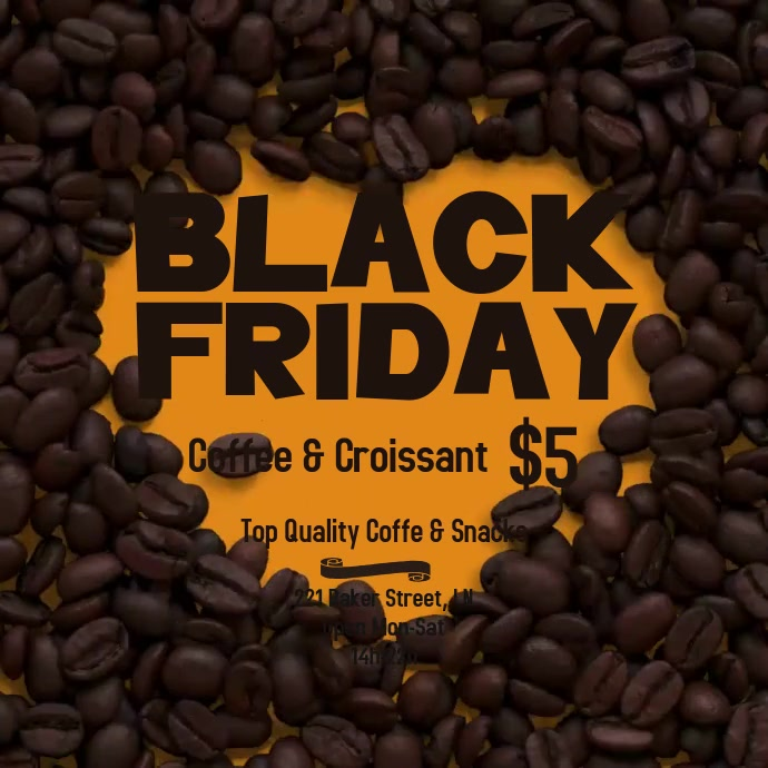 Coffee Lovers Cafe Black Friday Flyer