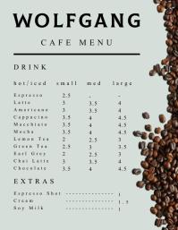 Coffee Menu Flyer (US-Letter) template