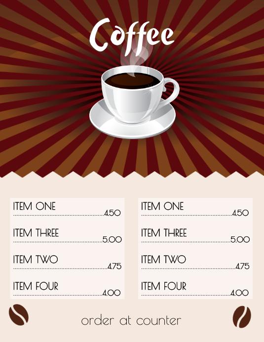 Coffee Menu Flyer