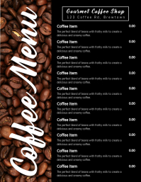 Coffee Menu Poster Flyer (US Letter) template