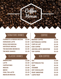 customizable design templates for coffee menu postermywall