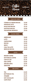 Coffee Menu Flyer Template