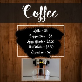 Coffee Menu Video Template Square (1:1)