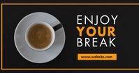 coffee minimal advertisement white and orange template