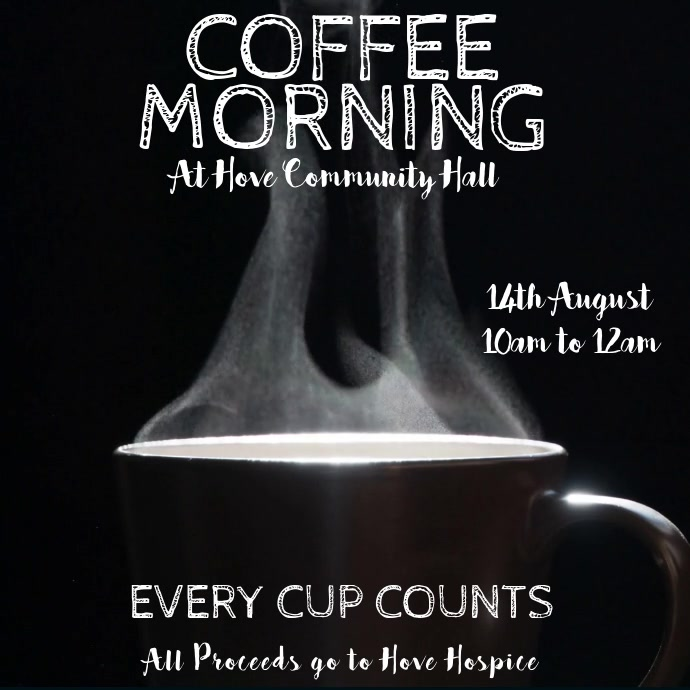 Coffee Morning Digital Display Video