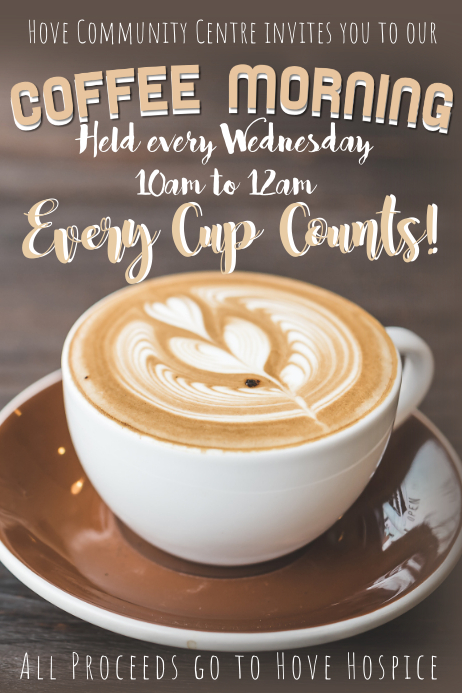 coffee morning flyer customisable poster template