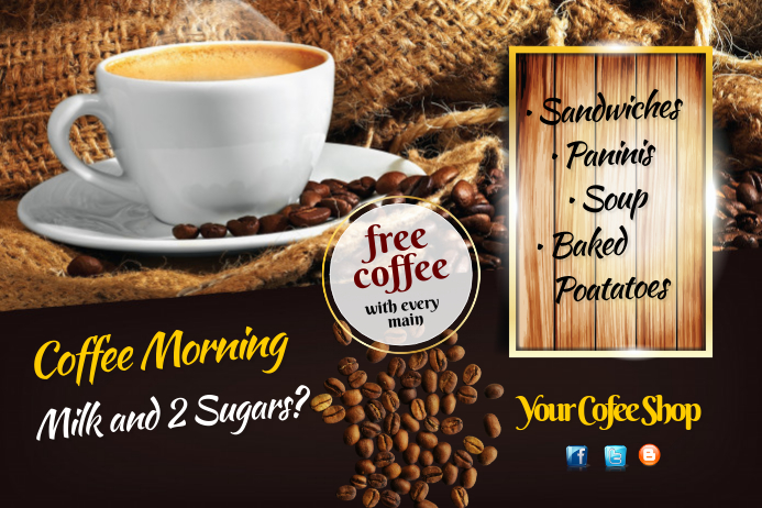 Coffee morning Flyer