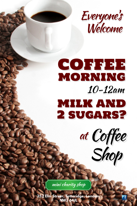 Coffee Morning Poster 海报 template