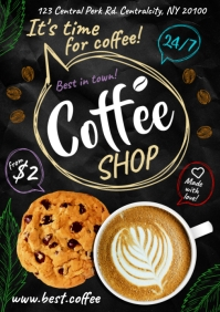 COFFEE POSTER A4 template