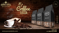 Coffee Product Ads Facebook Cover Video (16:9) template