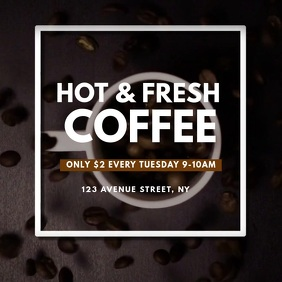 Coffee promrion Video AD Design instagram