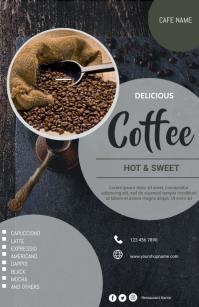 Coffee Restaurant flyers Tabloide template