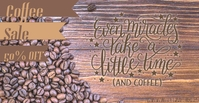 Coffee Sale Sampul Acara Facebook template