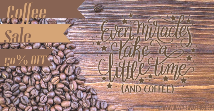 Coffee Sale Facebook Event Cover template