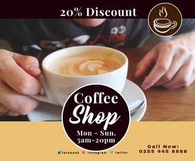 COFFEE SHOP 3 Persegi Panjang Besar template