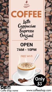 coffee shop ad Digitale display (9:16) template