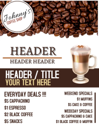 COFFEE SHOP AD Flyer template Рекламная листовка (US Letter)