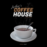 Coffee Shop Advertisement Copertina album template