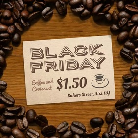 Coffee Shop Black Friday Offer