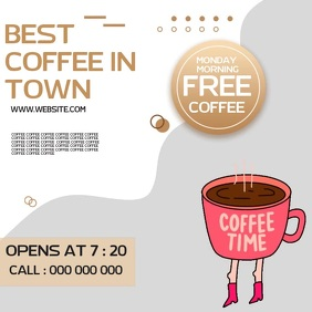 COFFEE SHOP CAFE AD SOCIAL MEDIA TEMPLATE