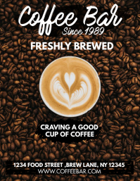 COFFEE SHOP Flyer (US Letter) template