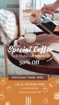 coffee shop Instagram-Story template