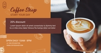 coffee shop Facebook Shared Image template