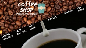 coffee shop Pantalla Digital (16:9) template