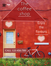 coffee shop flyer,small business flYER
