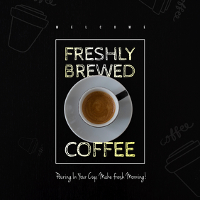 Coffee shop flyer/Ad Albumcover template