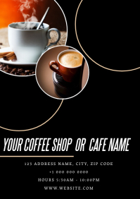 Coffee Shop Flyer ad Template A4