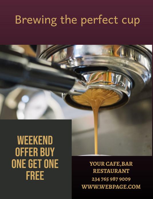 coffee shop flyer Iflaya (Incwadi ye-US) template